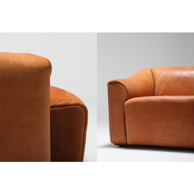 Brown De Sede Ds 47 Cognac Leather Sofa For Sale - Image 8 of 12