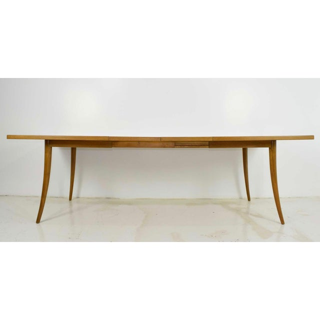 Harvey Probber Saber Leg Table in Bleached Mahogany - Image 3 of 10