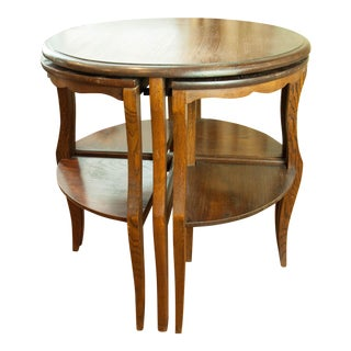 Nesting Pie Shaped Table For Sale