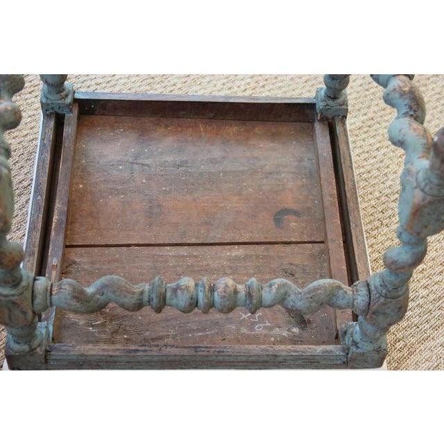 Swedish Baroque Period Square Stool, 18th Century Antique For Sale In Wichita - Image 6 of 8