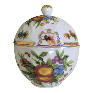 Insect and Fruit Godinger, Basket Weave Lidded Porcelain Box