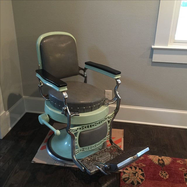 Antique Koken Barber Chair - Image 3 of 10