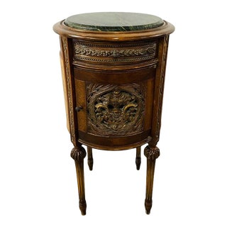 19th Century French Louis XVI Style Marble Top Nightstand, Side or End Table For Sale