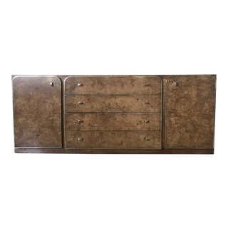 Mid-Century Modern Burlwood Standard Dresser For Sale