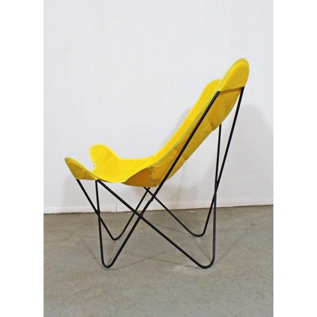 Mid-Century Modern Knoll Style Iron Butterfly Chair For Sale - Image 4 of 8