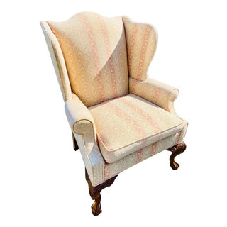 Hickory Chair Chippendale Style Wingback Chair For Sale