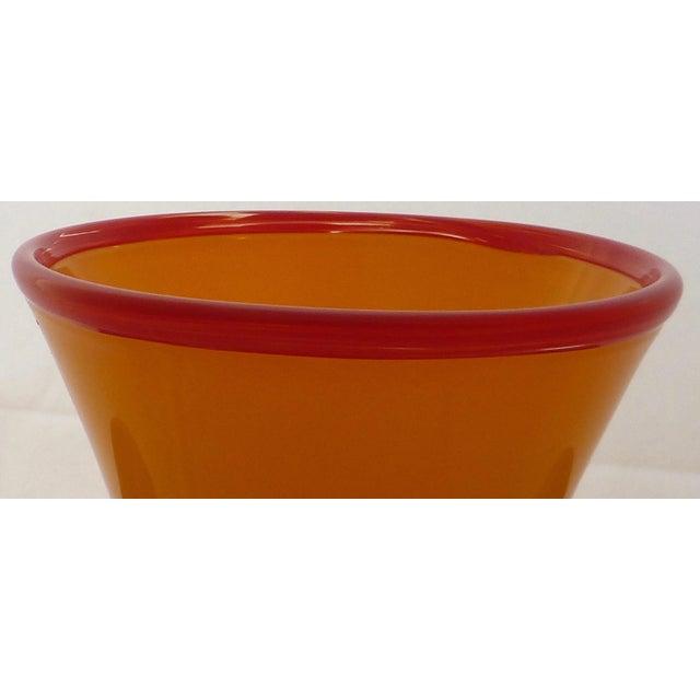 Orange Studio Art Glass Vase For Sale - Image 5 of 9