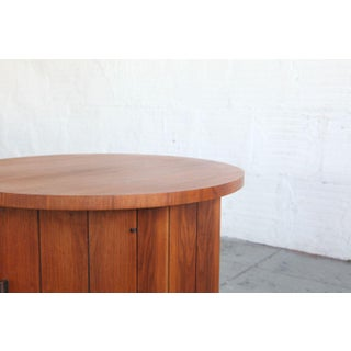 1960s Modern Teak Hexagon Side Table/Cabinet Preview