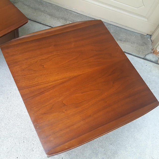 Bassett Mid-Century Modern Artisan End Tables - A Pair - Image 7 of 10