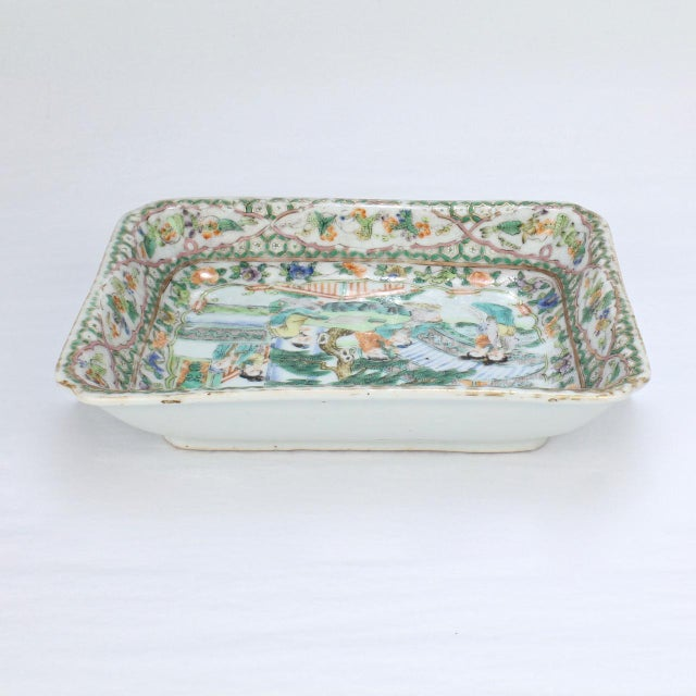 Antique Chinese Export Porcelain Famille Verte Bowl For Sale - Image 12 of 13