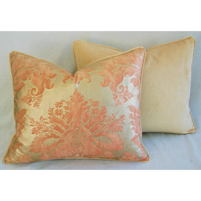 Italian Fortuny Glicine Gold Pillows - A Pair - Image 9 of 11