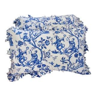 Scalamndre Chinoiserie Inspired Custom Pillow Shams King - a Pair For Sale