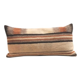 Pair of Navajo Indian Weaving Saddle Blanket Pillows For Sale