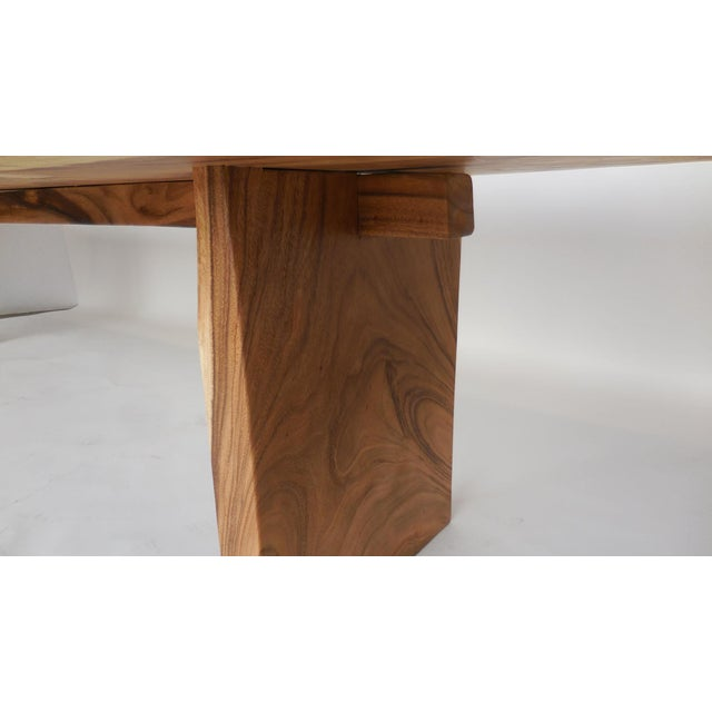 Wood Long Live Edge Organic Modern Albezia Table For Sale - Image 7 of 11