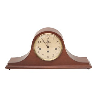 Seth Thomas Mahogany Humpback Mantel Clock