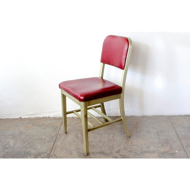 Mid-Century Modern Refinished GoodForm Aluminum Side Chairs - Set of 6 For Sale - Image 3 of 6