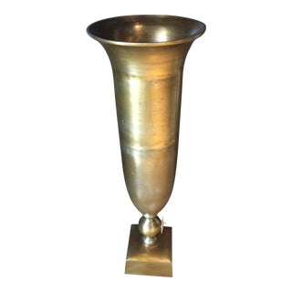 Contemporary Large Copper Finish Vase