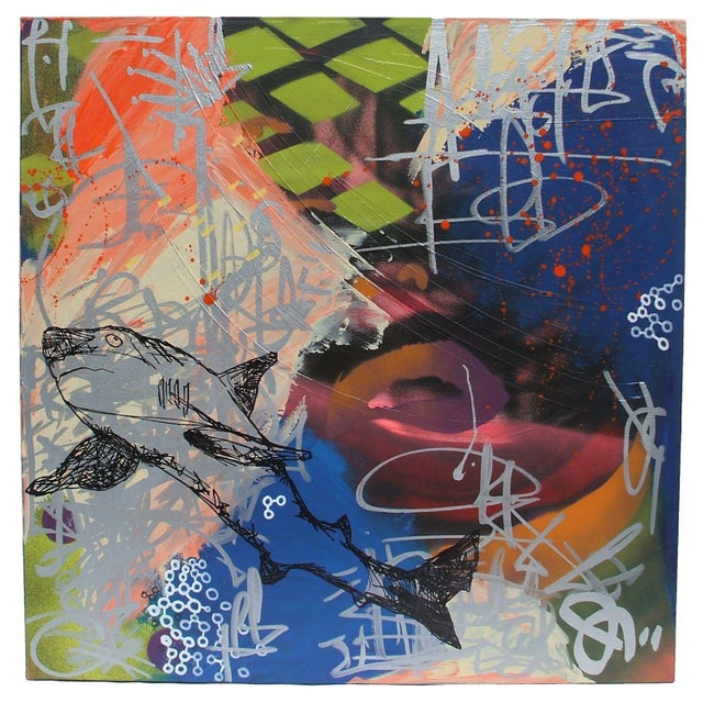 Mixed Media Abstract Painting - Image 1 of 4