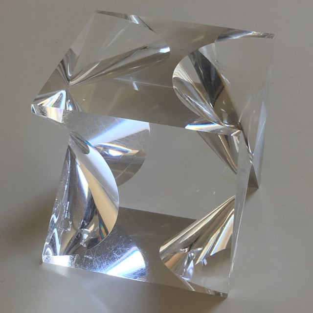 Some age appropriate wear, but no chips or cracks. Made of lucite in the 1960s