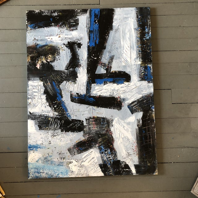 Blue Original Contemporary Abstract Original Painting Bill Ryan For Sale - Image 8 of 8