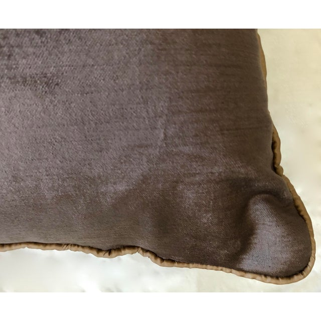 Early 19th Century Early 19th Century Dark Grey Velvet Pillows - a Pair For Sale - Image 5 of 13