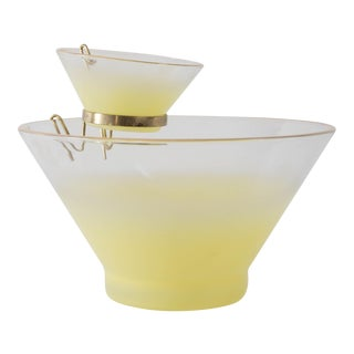 Blendo Yellow Ombre and Gold Chip & Dip Bowls- Set of 2