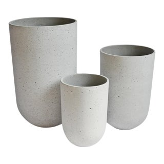 Modern Nina Cement Planters - Set of 3 For Sale