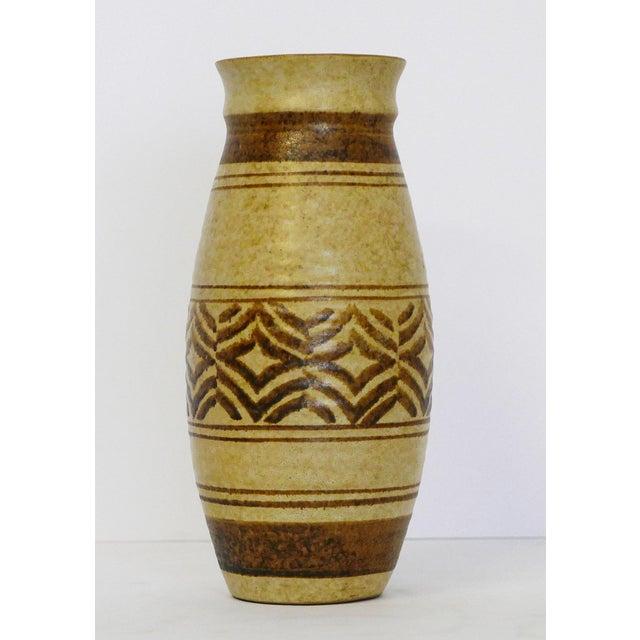 Boho Craft Pottery Vase For Sale - Image 4 of 6