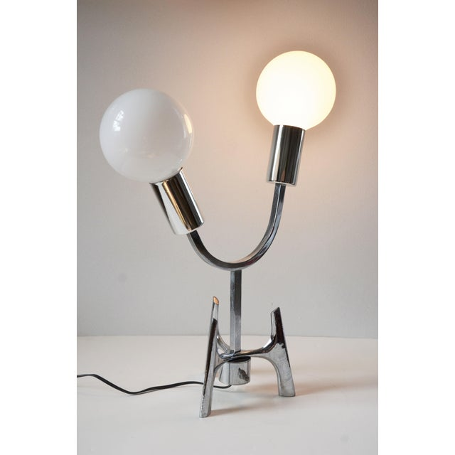 1960s Mid-Century Modern Space Age Chrome Lamp For Sale - Image 9 of 12