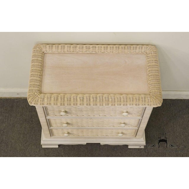 Late 20th Century 20th Century Country Pennsylvania House White Wicker Nightstand For Sale - Image 5 of 13
