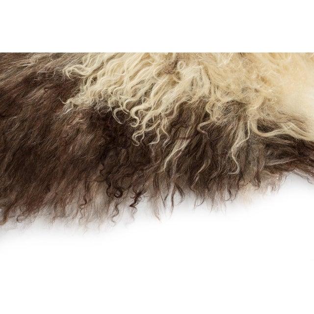 "Contemporary Contemporary Long Wool Sheepskin Pelt, Handmade Rug - 2'2""x3'6"" For Sale - Image 3 of 6"