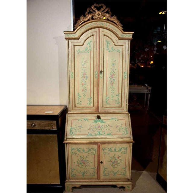 Venetian-Style Painted Secretary For Sale - Image 5 of 9