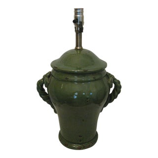 Jade Green Antique Urn Form Table Lamp, Wildwood? For Sale