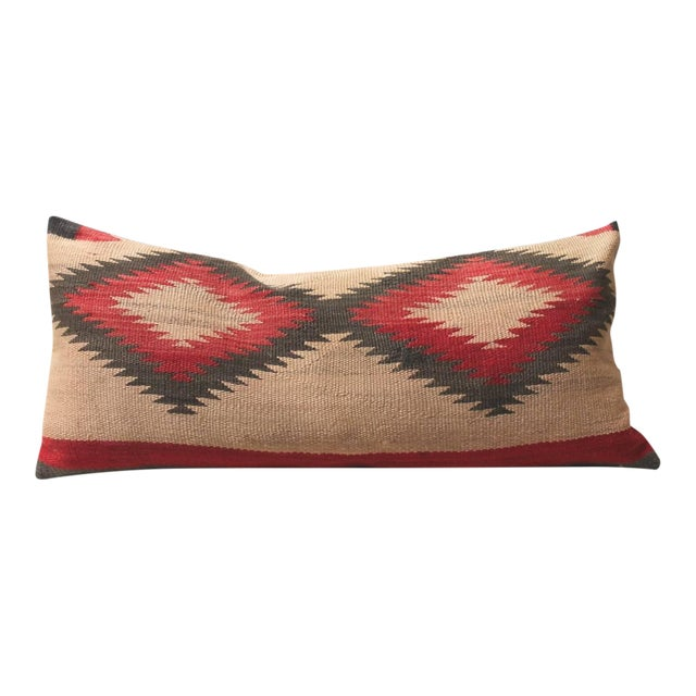 Early Muted Navajo Indian Weaving Pillow For Sale