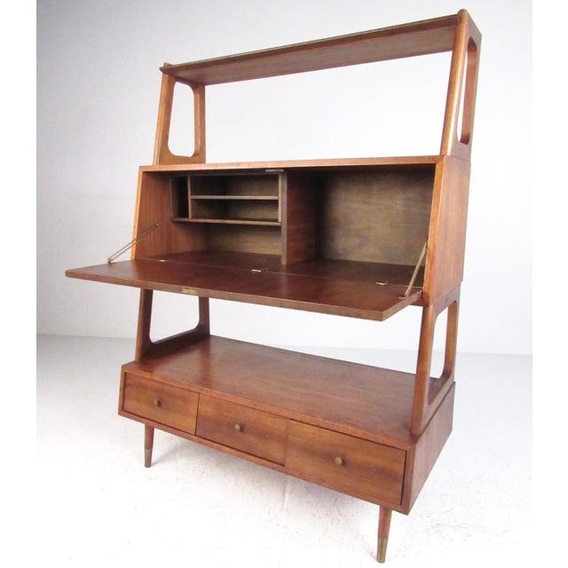 Freestanding Vintage Walnut Bookshelf For Sale - Image 11 of 11