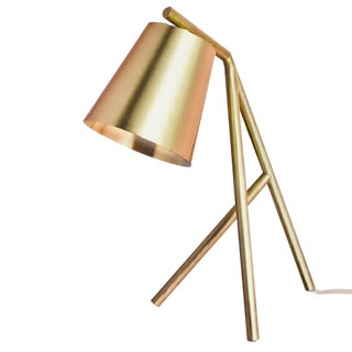 Table Lamp Brushed and Lacquered Brass For Sale