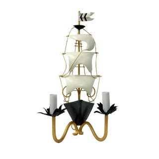 Nautical Ship Wall Sconce Lighting For Sale