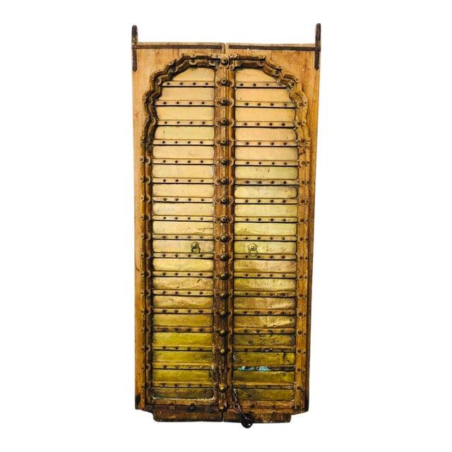 Antique Indian Teak Wood Hand Carved Doors For Sale