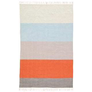 Jaipur Living Swane Indoor/ Outdoor Stripe Orange/ Blue Area Rug - 8' X 10'