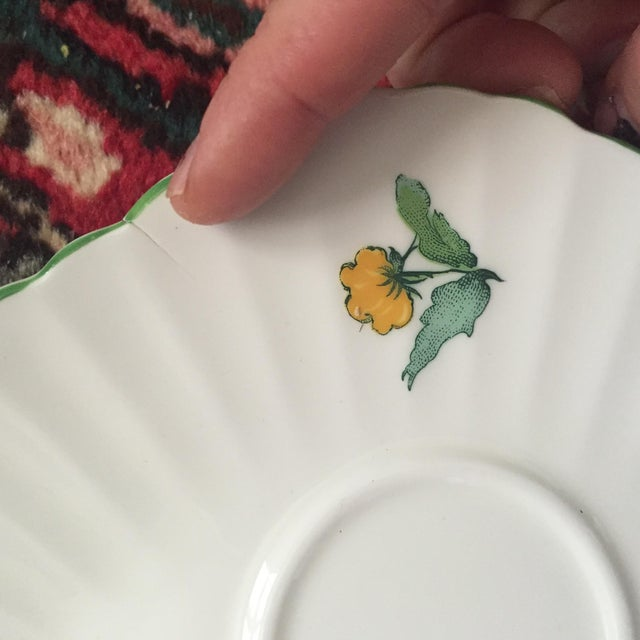 Staffordshire Cornwall Scalloped Teacup Dessert Plates - Set of 4 For Sale In Charlotte - Image 6 of 7