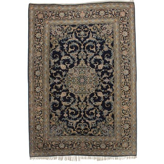 "Vintage Persian Kashan Oriental Rug - 8'1"" X 11'5"" For Sale"