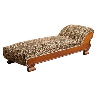 1904 Sears Roebuck Chaise Lounge in Cheetah Print For Sale