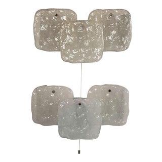 1960s Kalmar Mid-Century Modern Glass Sconces - a Pair For Sale