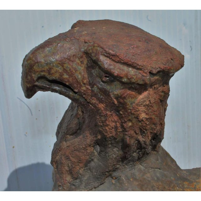 Primitive Early 19th Century Monumental Pottery Eagle Sculpture For Sale - Image 3 of 9