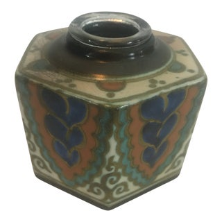 1930s Gouda Pottery Inkwell Holland For Sale