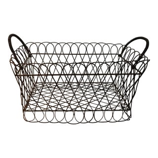 French Style Wire Basket For Sale