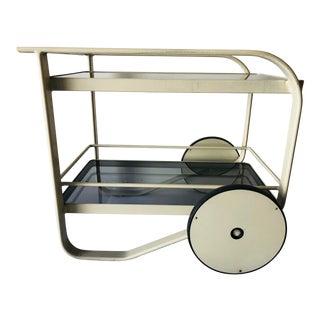 Brown Jordan '80s Modern Bar Cart Designer Richard Frinier For Sale