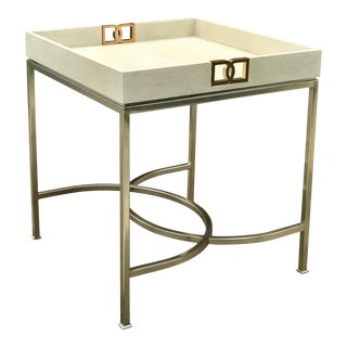Contemporary Bernhardt Salon End Table For Sale