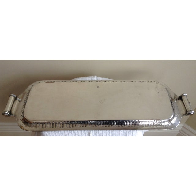 English Victorian Era Silver Plate Tray - Image 11 of 12