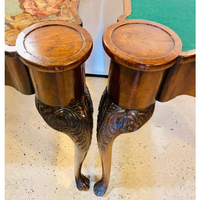 Pair of 18th-19th Century Georgian Compatible Card / Game or Flip Top Tables For Sale - Image 9 of 13